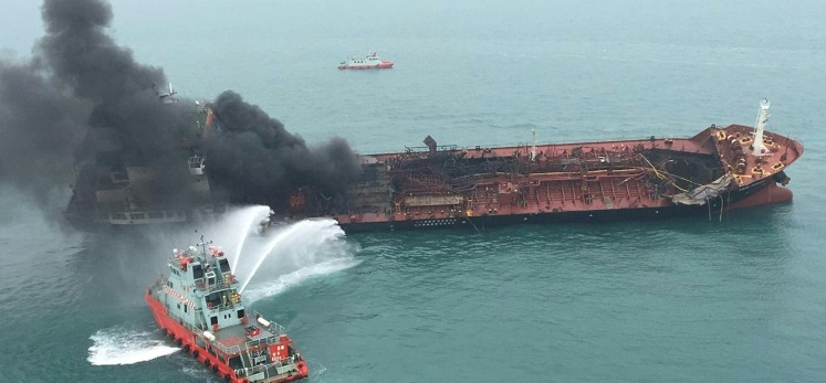 One Dead, Two Missing After Oil Tanker Blaze Off Hong Kong