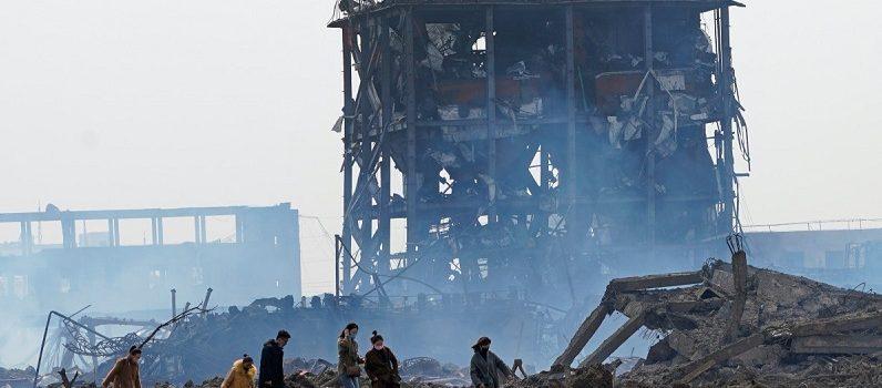 (الصين) تغلق مجمعاً صناعياً إثر انفجار تسبب في مقتل 78 شخصاً